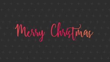 animação feliz natal sobre fundo de moda negra e minimalismo com pequenas cruzes
