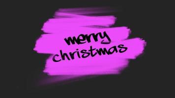 animação texto de introdução feliz natal sobre moda roxa e fundo pincel