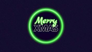 animação texto de introdução feliz natal sobre moda e plano de fundo do clube com um círculo verde brilhante video