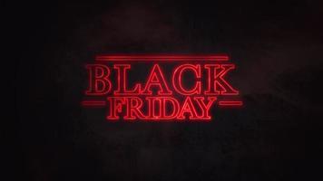 Animations-Intro-Text schwarzer Freitag mit Sternenkriegsstilen in der Galaxie, Retro-Hintergrund