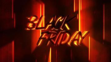 animação introdução texto preto sexta-feira e movimento linhas neon vermelho, fundo abstrato