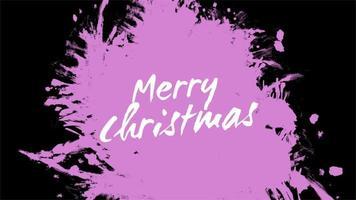 texto de animação feliz natal sobre moda roxa e fundo de pincel video