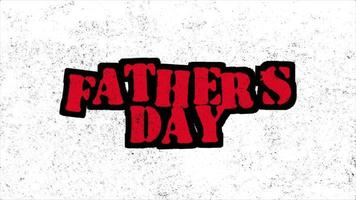 animación texto día del padre sobre fondo hipster y grunge con ruido