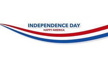 Primer plano animado texto día de la independencia sobre fondo de vacaciones, día de la nación de EE. video