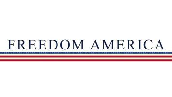 libre de texte animé libre amérique sur fond de vacances, jour de la nation des états-unis video