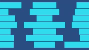 Bewegung Intro geometrische blaue Streifen, abstrakter Hintergrund video