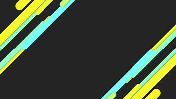 Motion intro geometric yellow and blue stripes, abstract background video