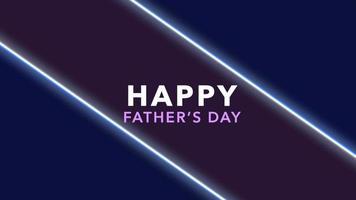 animação texto dia dos pais sobre fundo de moda e clube com linhas azuis brilhantes