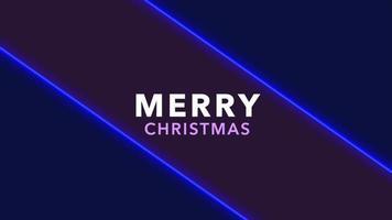 animação texto de introdução feliz natal sobre moda e plano de fundo do clube com linhas brilhantes video