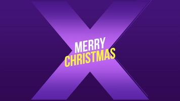 animação texto de introdução feliz natal na moda e plano de fundo do clube com uma cruz brilhante