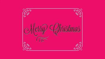animação texto de introdução feliz natal em fundo vermelho moda e minimalismo com moldura