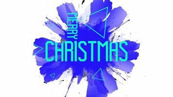 animação texto feliz natal em fundo branco moda e minimalismo com triângulos