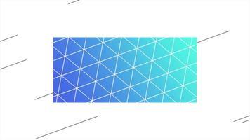 movimento abstrato geométrico triângulos e linhas azuis e verdes, fundo retrô video