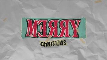 animação texto de introdução feliz natal em hipster branco e fundo grunge