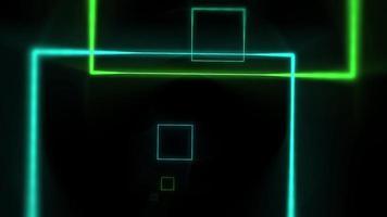movimento linhas de néon coloridas abstraem base video