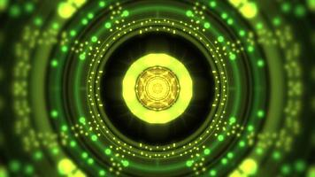 movimento abstrato néon forma geométrica no espaço, fundo do clube de laser