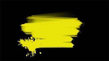 movimento pincéis amarelos abstratos, fundo colorido do grunge