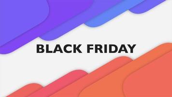 Animationstext schwarzer Freitag auf Steigungsgelb- und Purpurmode und Minimalismushintergrund mit Form