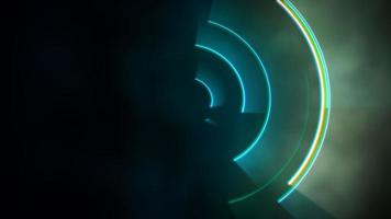 movimento círculos coloridos vertigem, fundo abstrato video