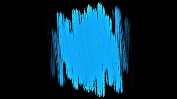 movimento pincéis azuis abstratos, fundo colorido do grunge video