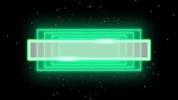 animação abstrata neon verde quadrados, fundo motion disco