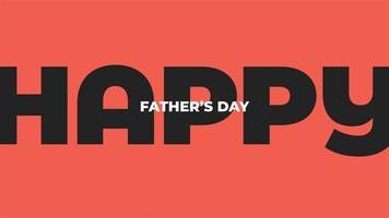 animação texto dia dos pais sobre fundo vermelho de moda e minimalismo