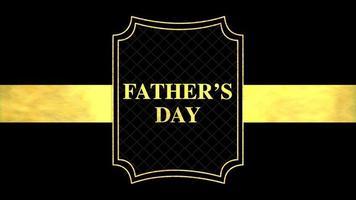 animação texto dia dos pais sobre fundo preto de moda e minimalismo com linha e forma douradas