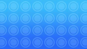 Motion geometric small gradient blue circles, retro abstract background video
