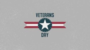 Animation text Veterans Day on military background with airplane stamp video