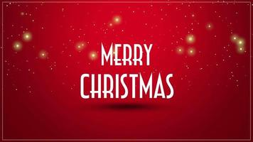 Animated close up Merry Christmas text on red background video