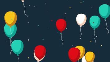 fundo animado closeup de férias com balões