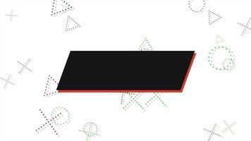 movimento formas geométricas abstratas cruzes e triângulos, fundo branco de memphis