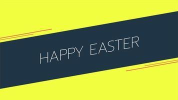 texto de animação feliz páscoa em fundo amarelo de moda e minimalismo com linha preta video