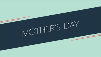 animação texto dia das mães sobre fundo verde moda e minimalismo com listras geométricas