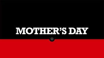 animação texto dia das mães em fundo de moda e minimalismo preto e vermelho com formas geométricas
