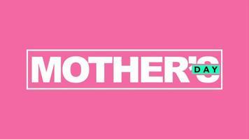 animação texto dia das mães sobre fundo rosa moda e minimalismo