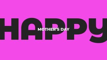 animação texto dia das mães sobre fundo roxo moda e minimalismo video