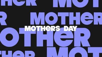 animação texto dia das mães sobre fundo de moda negra e minimalismo video