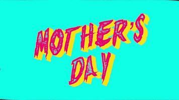 animação texto dia das mães sobre fundo verde moderno e grunge video