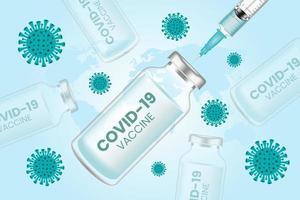 Fondo de vector de vacuna de coronavirus