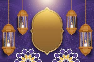 Ramadan kareem background with realistic style vector
