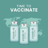 Coronavirus vaccine vector background
