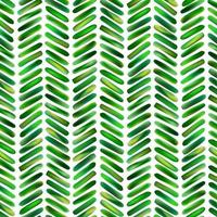 Abstract seamless pattern of geometric shapes in bright green. Stylized floral plant branches in tropical style. Ornament brush strokes of natural leaves vector