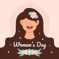 International happy women's day design vector