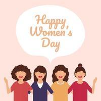 International happy women's day banner vector
