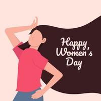 diseño del día internacional de la mujer feliz vector