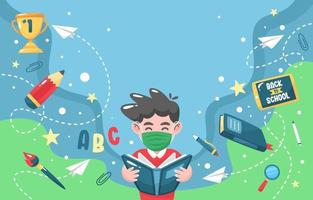 Back to School in The New Normal Background vector