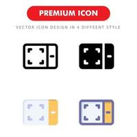 drawing tablet icon pack isolated on white background. for your web site design, logo, app, UI. Vector graphics illustration and editable stroke. EPS 10.