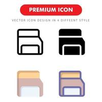 memory card icon pack isolated on white background. for your web site design, logo, app, UI. Vector graphics illustration and editable stroke. EPS 10.
