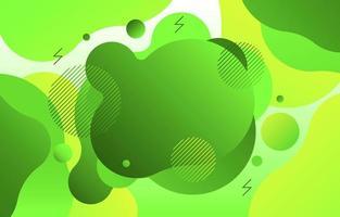 Diverse Green Liquid Background vector